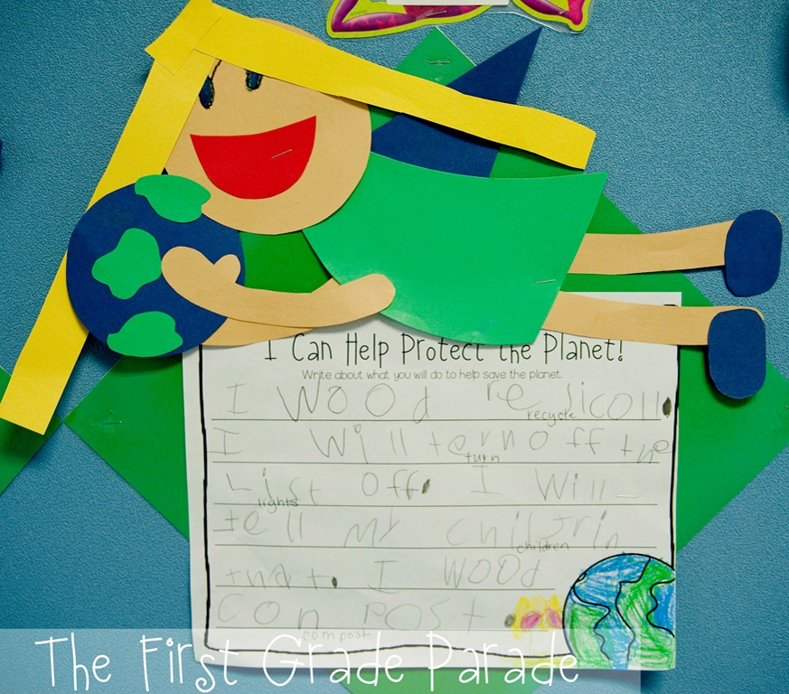 I Can Help Protect the Planet Writing Activity  Craftivity