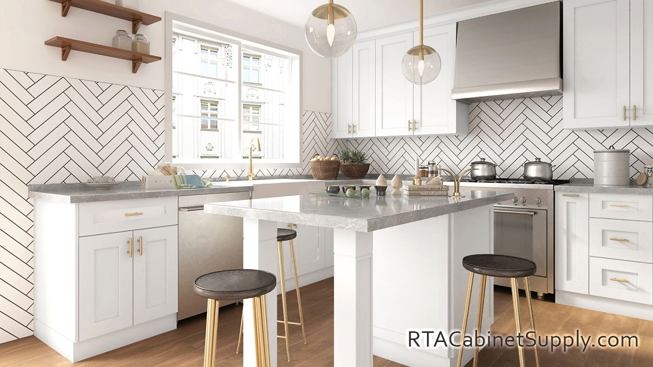 Madison White Shaker - Pre-Assembled Kitchen Cabinets in ...