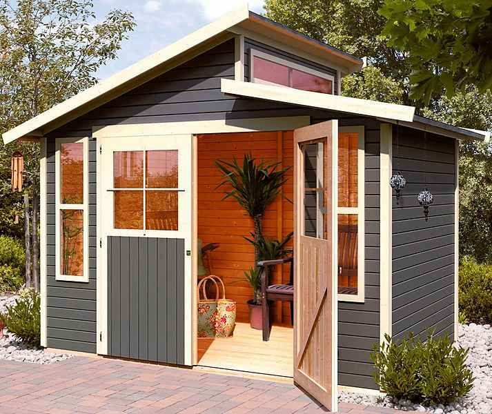 KARIBU Gartenhaus »Hörby 1«, BxT 133x135 cm Gartenideen