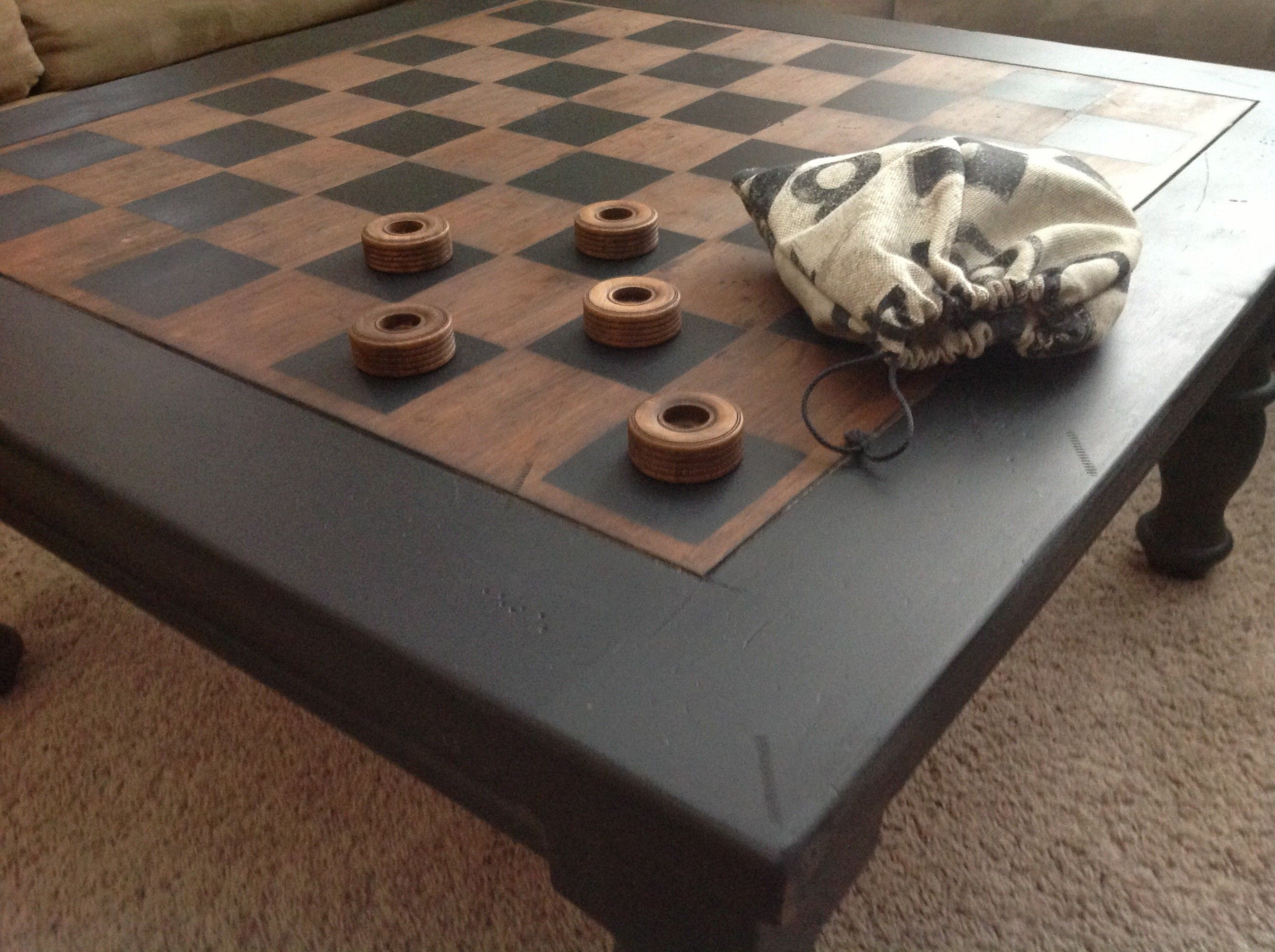 Checkerboard coffee table $325 Crystal lake