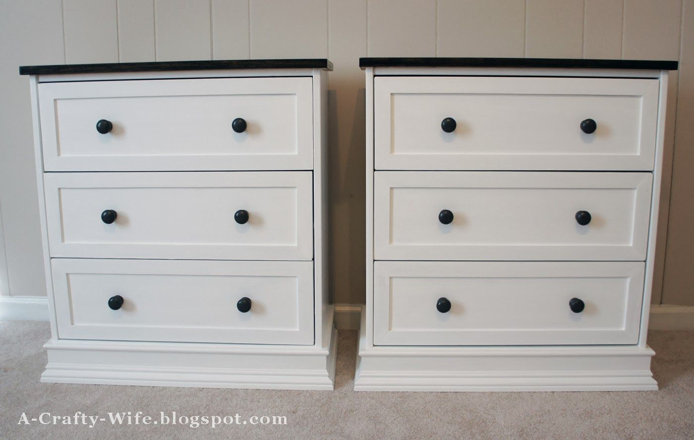 Ikea Rast Hack For Bedside Tables Finished Shot A Crafty Wife