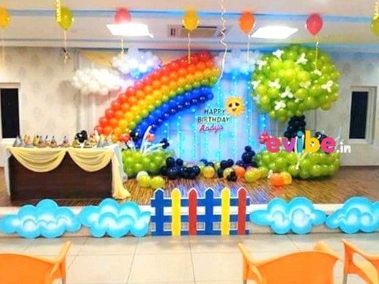 Amazing Balloon Rainbow Theme Decor in 2020