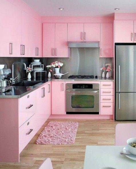 40 Cute Feminine Kitchen Design Ideas