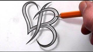 letra b tatuajes