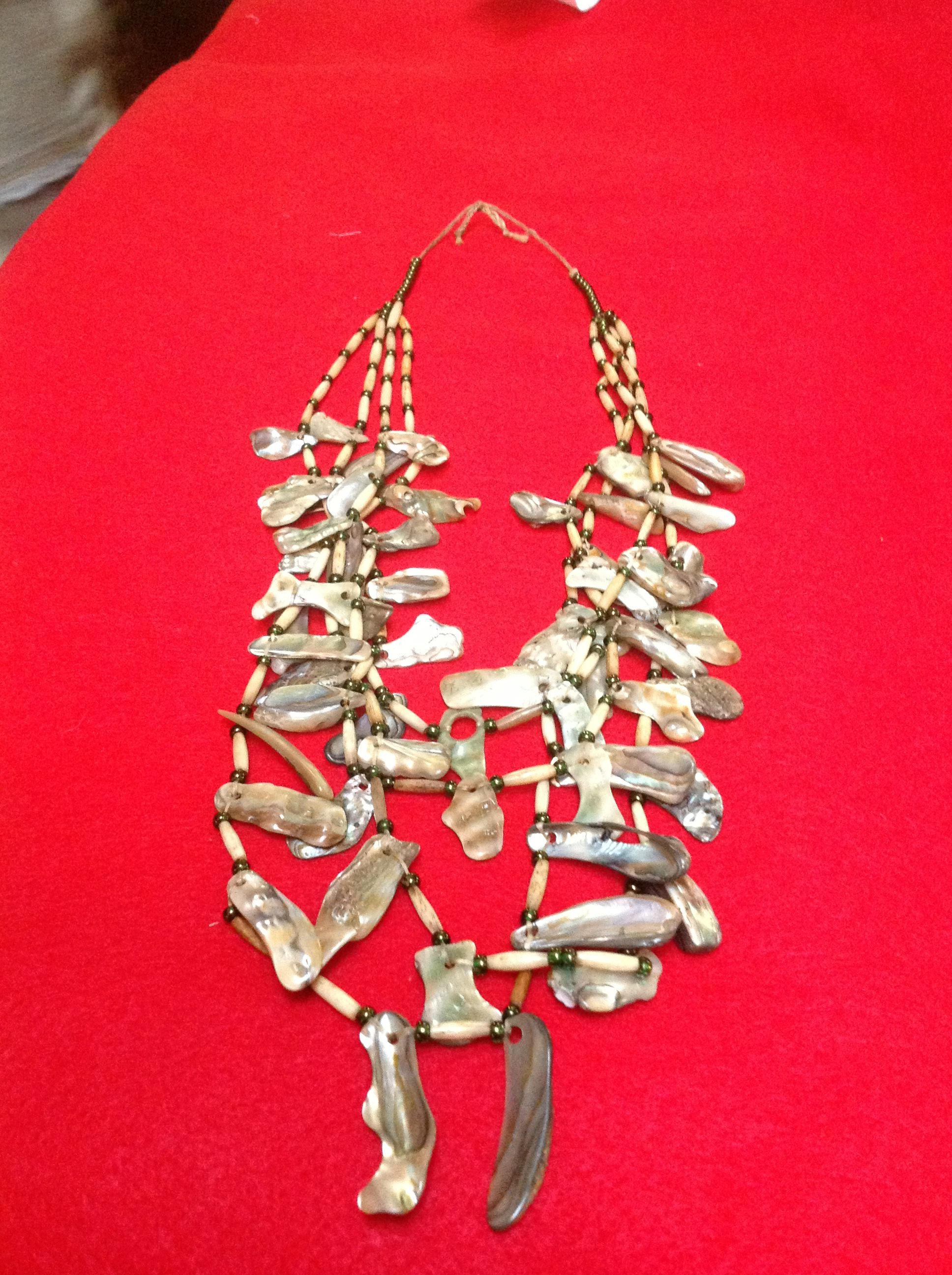 Abalone necklace by terry Chumash Ohlone California