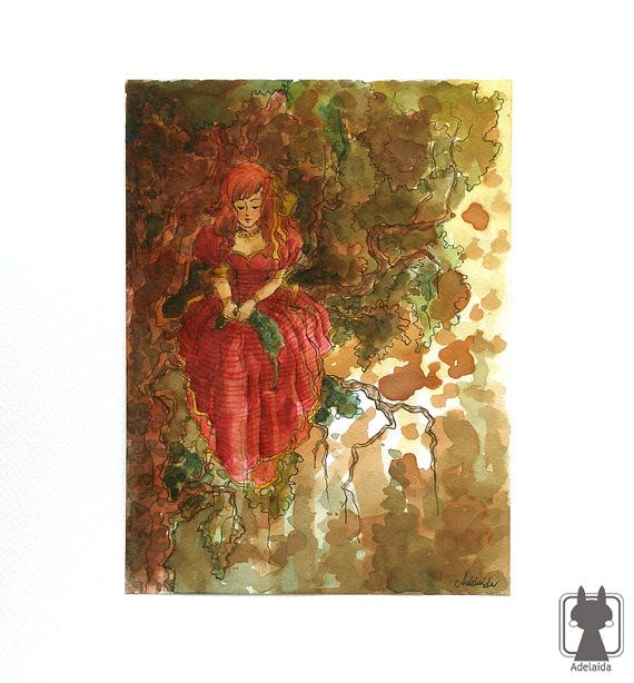 Grimm brothers - Six Swans fairytale - Grimm story by Adelaida, $56.00