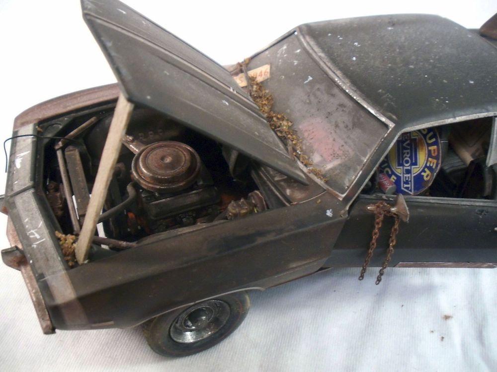 1969 Chevy Camaro M2 Machines Barn Find Weathered 1 24 Custom Diecast Car OOAK