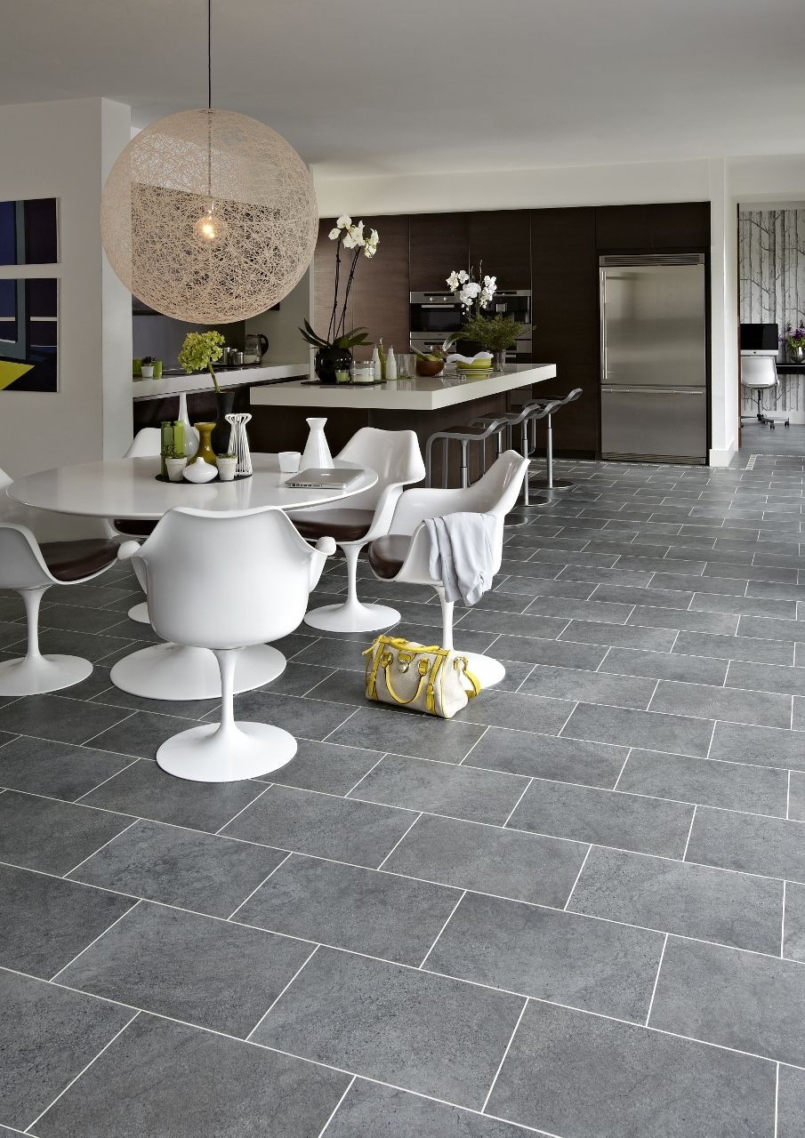 Cumbrian Stone Vinyl From Karndean Multi Use Entertaining Kitchen