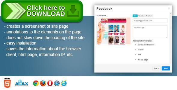 Free nulled Feedback screenshot form + download - free feedback form