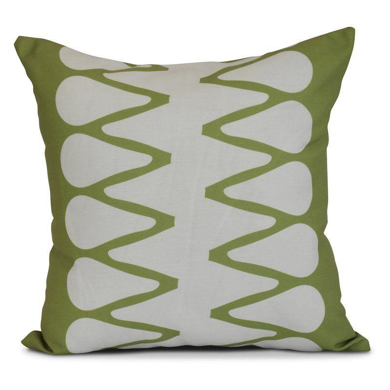 E by Design Geometric Zipped Outdoor Throw Pillow Green - O5PG826GR17-20