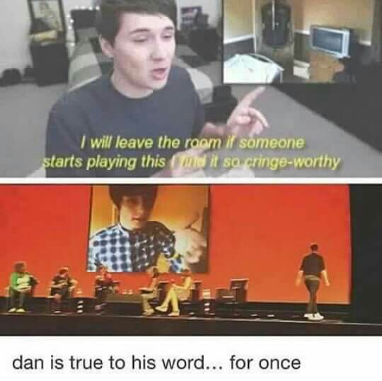 Dan is a man of his word (sometimes)