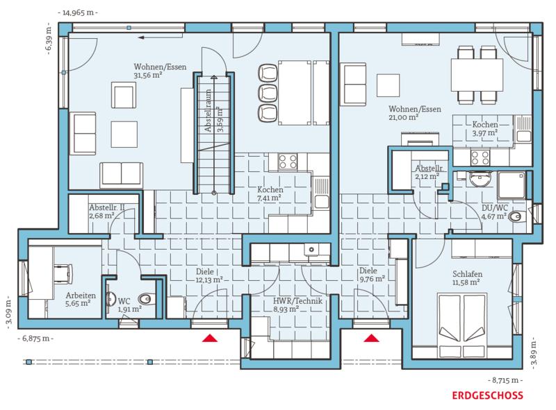 Zwei Generationenhaus Duo 211 Einfamilienhaus mit