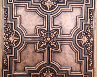 Plafond De Tuile Archaique Cuivre Faux Etain Peint 3d Gaufrage