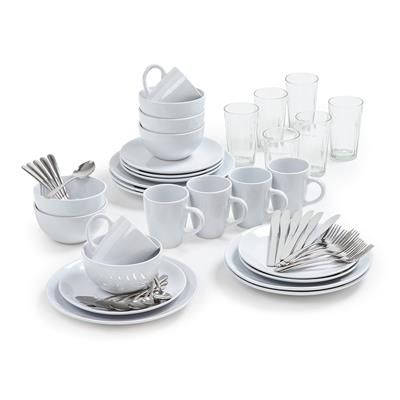 Image for 54 Piece Dining Starter Set - White from Kmart  sc 1 st  Pinterest & Image for 54 Piece Dining Starter Set - White from Kmart | Ideas for ...