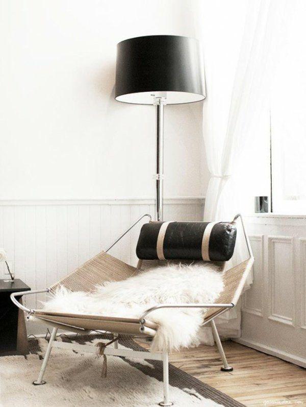 entspannungsecke skandinavisch einrichten fellauflagen - wohnzimmer skandinavisch einrichten
