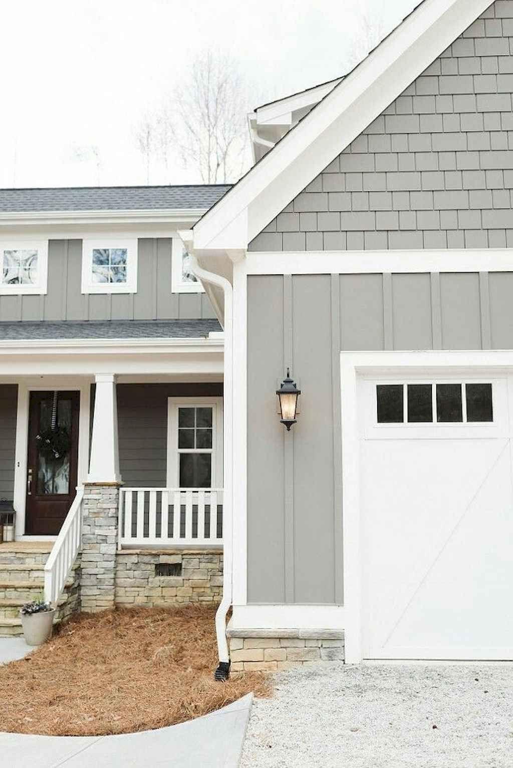 80 Farmhouse Modern Exterior Design Ideas Spaciroom Com Gray House Exterior House Paint Exterior Best Exterior House Paint