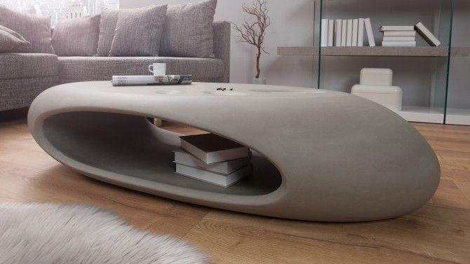 table de salon design couleur blanche