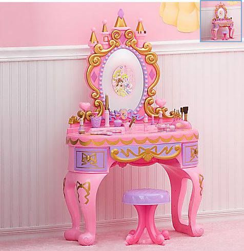 Vanity Tables Pink Princess Style With Images Disney
