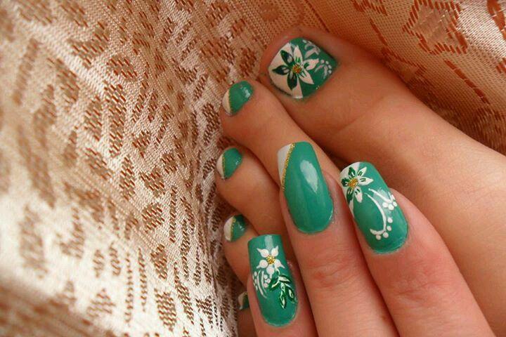 Uñas pies y manos | Diseños de uñas pies | Pinterest | Uñas pies ...