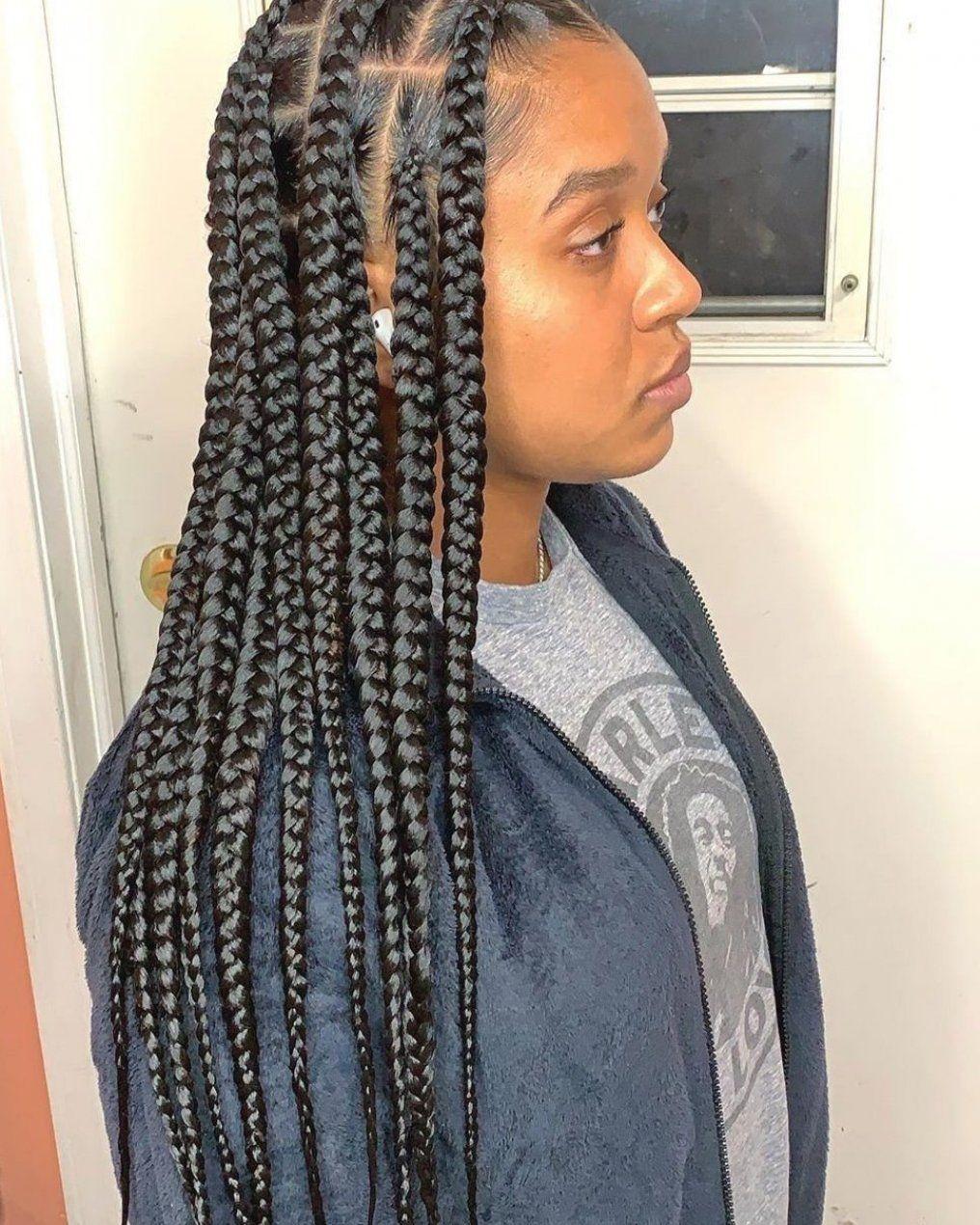 Hair Large Knotless Braids Large Knotless Box Braids Black Girl Braids Goddess Braids Br In 2020 Braids With Curls Box Braids Medium Length Colored Box Braids