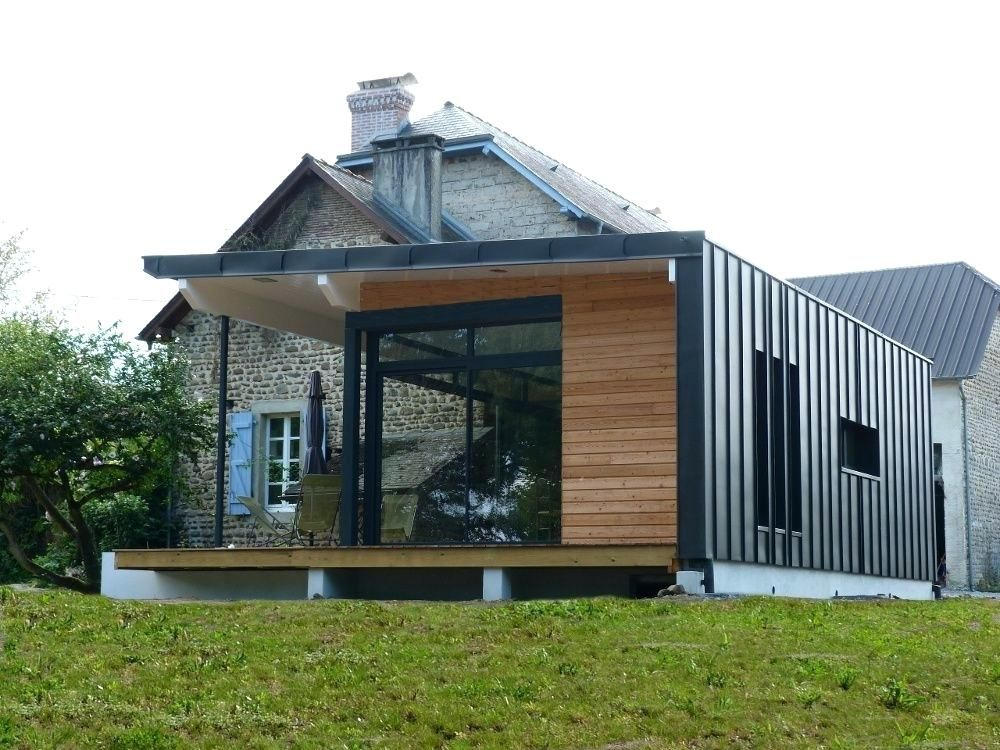Bardage Pignon Maison Bardage Maison Moderne Extension