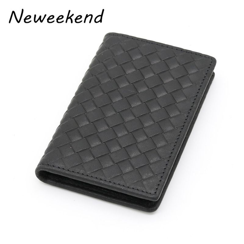 Neweekend New Men\'s Card Package Long Black Woven Card Holder Wallet ...