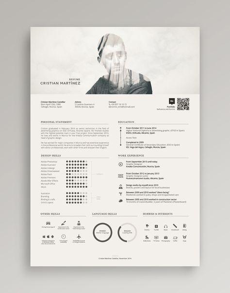 Resume / Curriculum Vitae on Behance More cv Pinterest - resume vitae