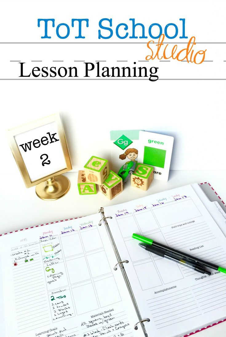 Our Homeschool Lesson Plan With The Color Green
