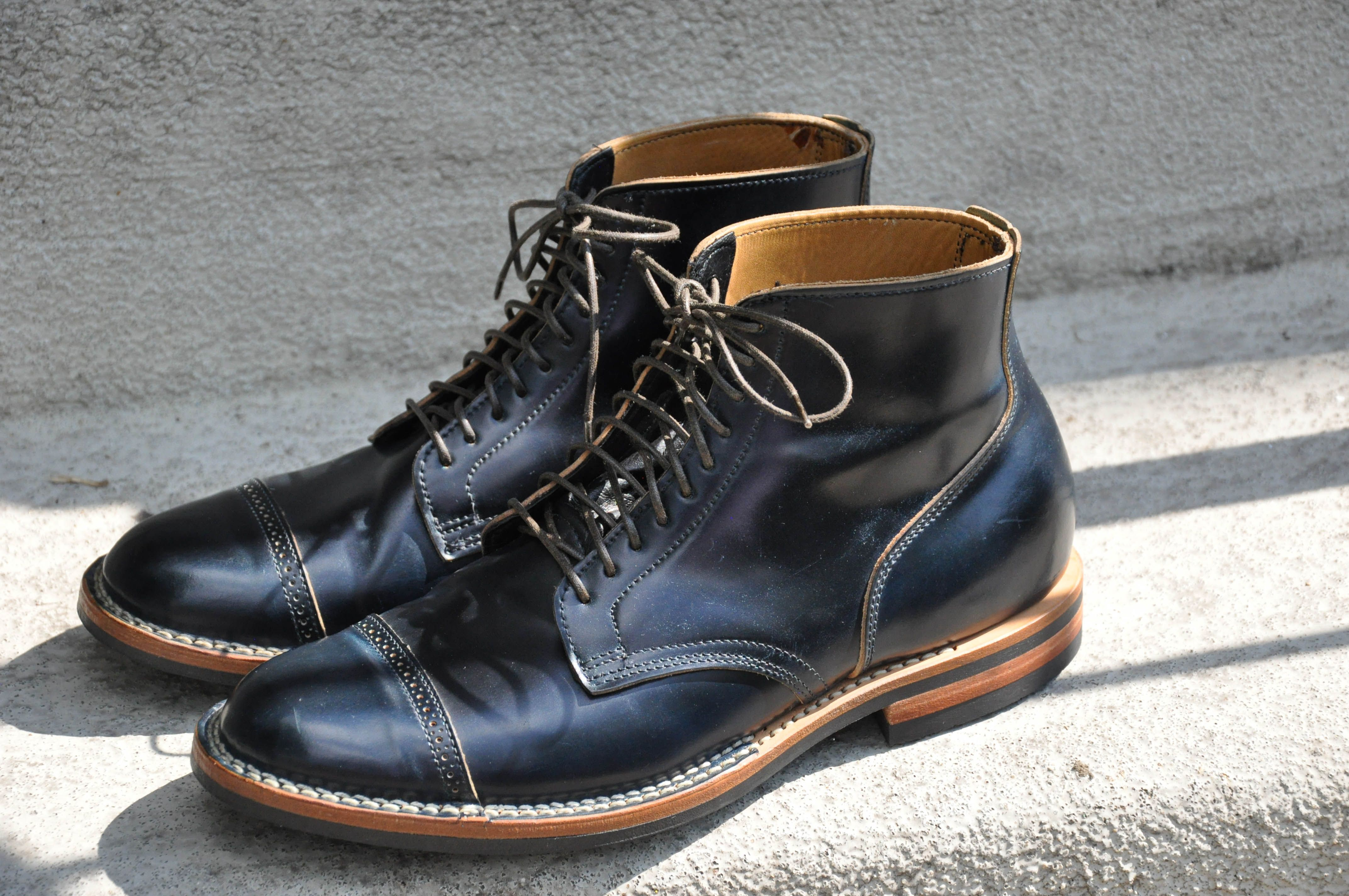 d2429db02fd viberg navy shell cordovan stitchdown service boots in 2019 | Men's ...