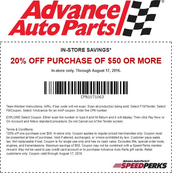 Pinned August 12th 20 Off 50 At Advanceautoparts Thecouponsapp Shopping Coupons Coupon Apps Coupons