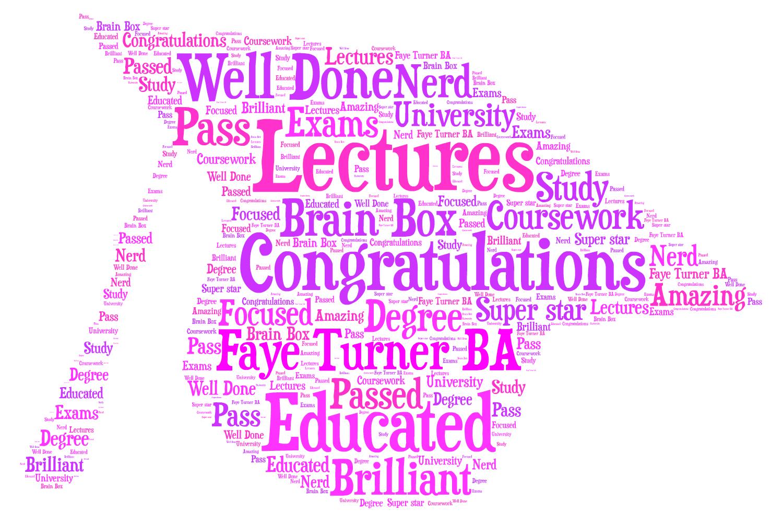 Elegant WordArt 2: Graduation is the Beginning  |Word Art For Graduation