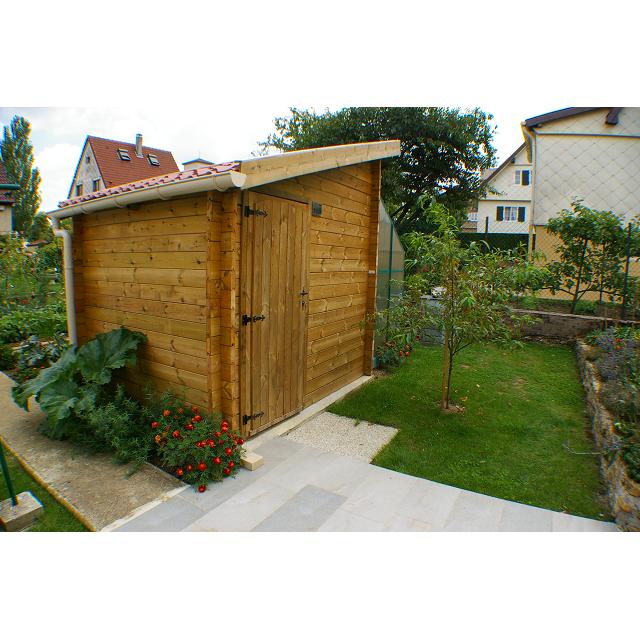 Abri de jardin toit une pente en pin naturel ou trait autoclave de 28 ou 45 mm de 2 5 x 2 m - Baraque de jardin ...