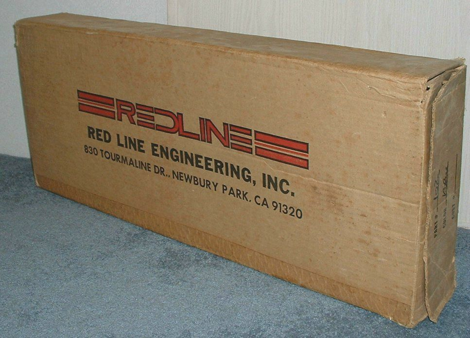 1980 Redline MX-II NOS frame, fork, bars, pad, logo seat. USA made.  Original box it came in.