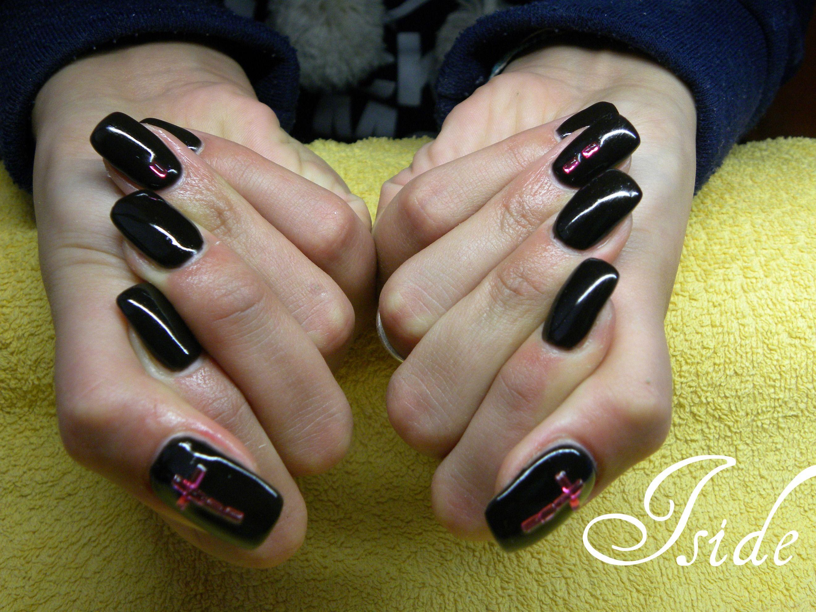 gel nero unghie