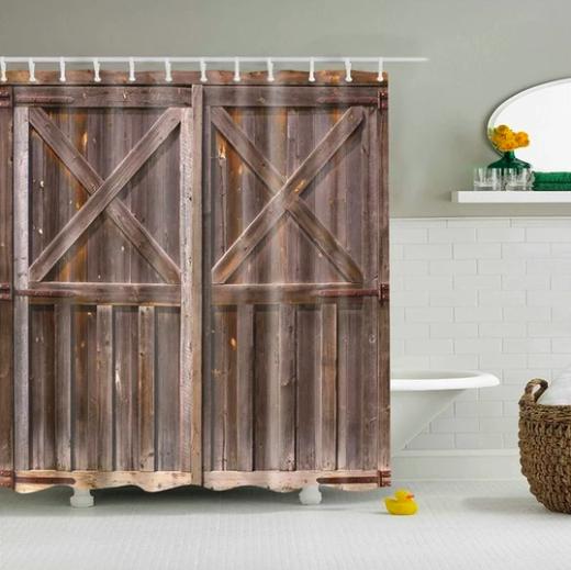 Rustic Barn Doors Fabric Shower Curtain Barn Door Shower Curtain Rustic Shower Curtains Fabric Shower Curtains