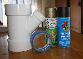 PVC Pipe Hairdryer Holder
