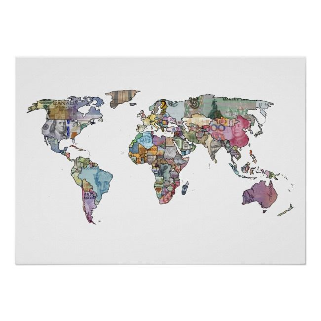 World Currency Map Poster Stuff To Buy Pinterest - Buy map posters