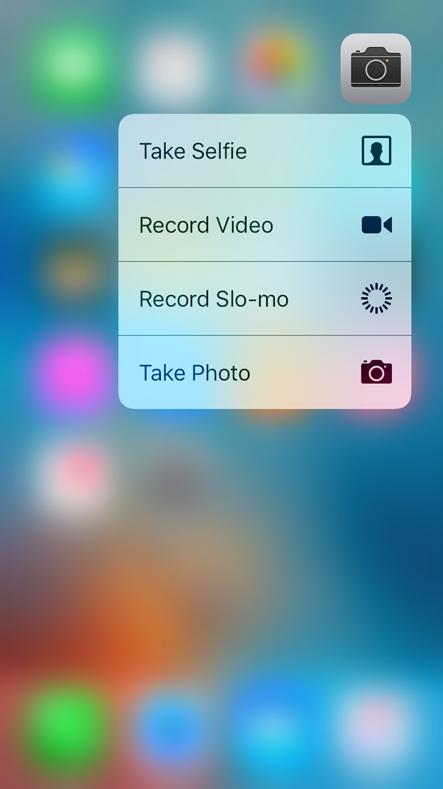 Home Screen Actions Extensions iOS Human Interface
