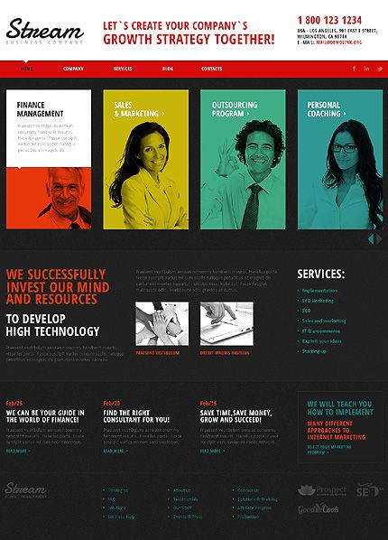Creative Consulting Joomla Template | Pinterest