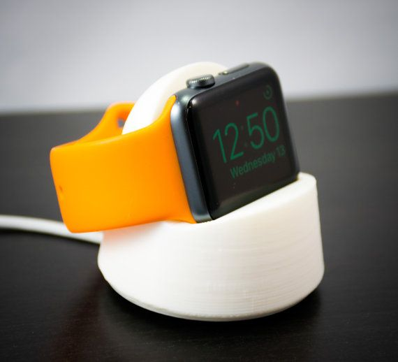 Apple Watch Stand Charger Model 2 With Rubber Feet 3d Print Apple Watch Stand Apple Watch Apple Watch Charger