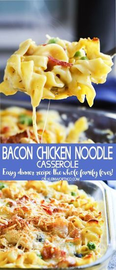 Easy family dinner ideas like bacon chicken noodle casserole are a easy family dinner ideas like bacon chicken noodle casserole are a fantastic way to have comfort forumfinder Images