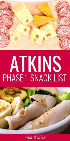 Atkins Snack List - Phase 1  #atkinsmeals