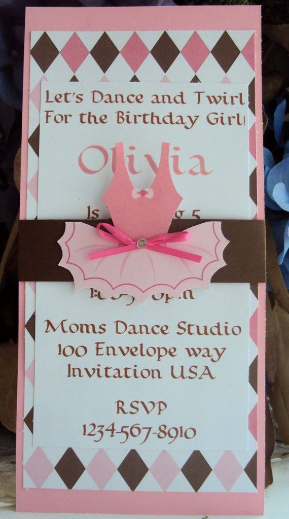 Ballerina Invitation. Birthday Invitation. Ballerina Party ...