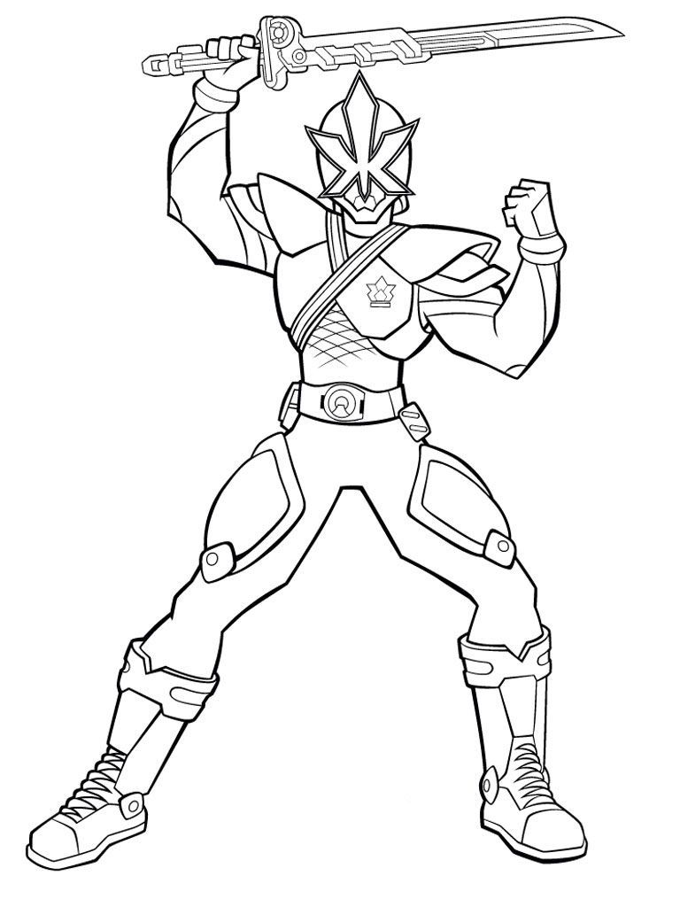 Power Rangers Lift Up A Sword And Ready To Fight Coloring Pages For Kids Gvl Prin Power Rangers Coloring Pages Dinosaur Coloring Pages Power Rangers Samurai