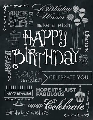 Tinker With Ink Paper Chalkboard Birthday Card Birthday Greetings Images Birthday Wishes Happy Birthday