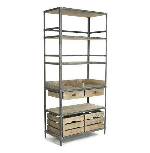 Amazon Com Ardsley Industrial Loft Gray Metal Bakers Rack
