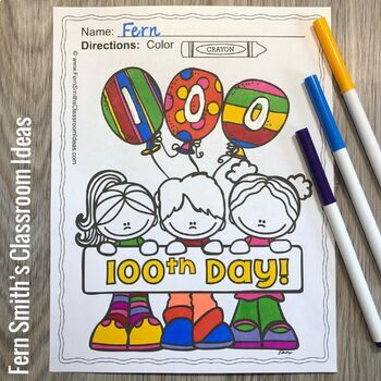 New Years Coloring Pages and 100th Day of School Coloring