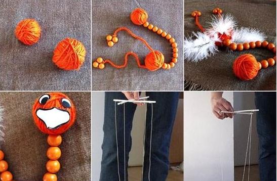 Comment fabriquer une marionnette fils d 39 autruche marionnette pinterest autruches - Comment faire une marionnette ...