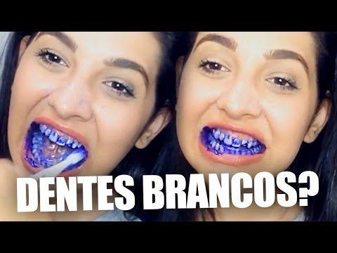 Truques Bizarros Clareando Os Dentes Com Violeta Genciana Tirando