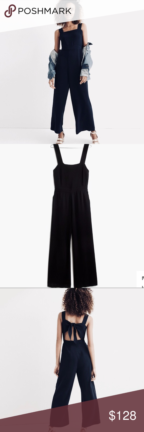 Nwt Madewell Apron Bow Back Jumpsuit Nwt In 2018 My Posh Picks